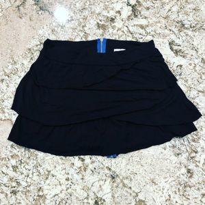 Roxy Black Ruffle Mini Skirt